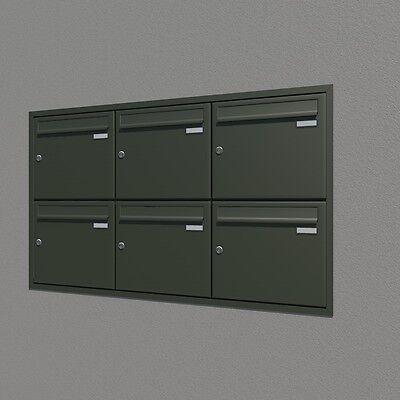 Briefkastenanlage Unterputz 6-tlg. verschiedene RAL Farben