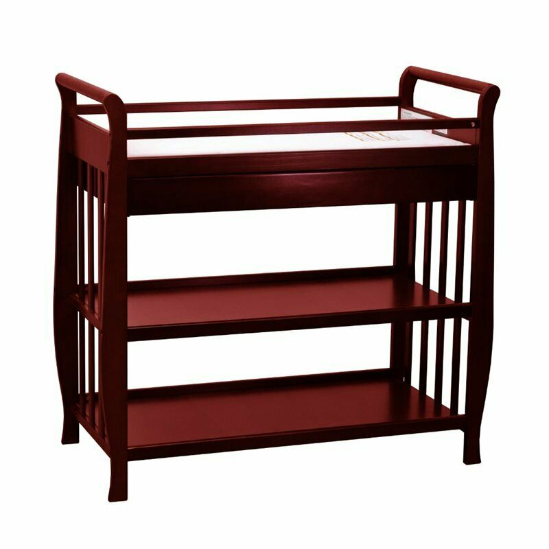 Athena Nadia Changing Table with Drawer in Cherry