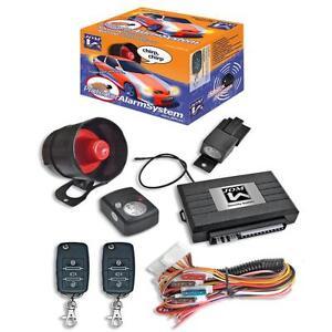 JOM Alarmanlage mit ZV-Ansteuerung Klappschlüssel Auto Fernbedienung universal