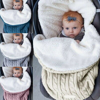 Newborn Baby Blanket Swaddle Sleeping Bag Stroller Wrap Warm Sleepsacks New GW 1