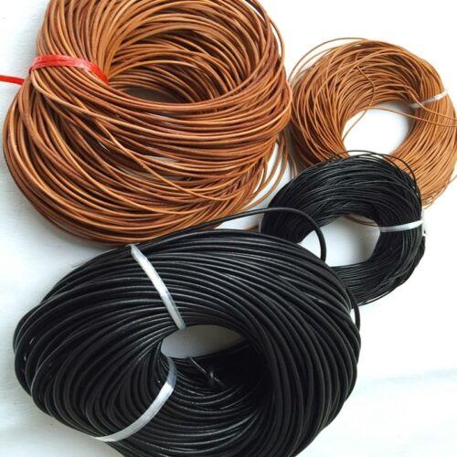 12 Yards Real Leather Shoe Strap Boot Strings Shoelace Leathercraft Cords Rope
