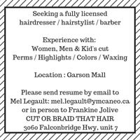 Seeking licensed and experienced hairstylist