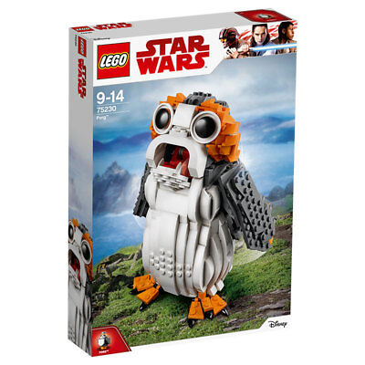 LEGO 75230 Star Wars Porg Building Set, Ahch-To Sea-dwelling Bird Figure, Collectible Model