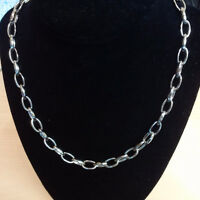 LADIES 14K WHITE GOLD CHAIN LINK NECKLACE