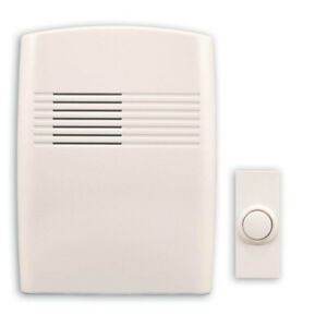 Wireless Battery Operated Door Bell Kit with 1-Push Button