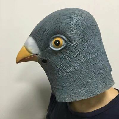 Halloween Pigeon Head Mask Latex Prop for Animal Cosplay Costume Party funny