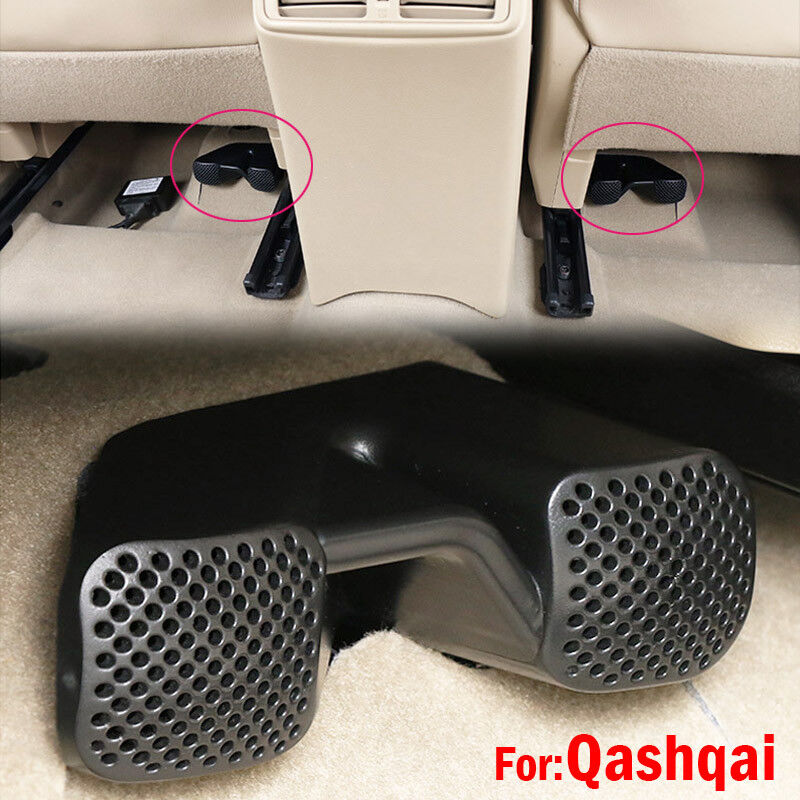 Under Seat Rear Floor A/C Heater Air Vent Grille Cover For 14-17 Qashqai J11