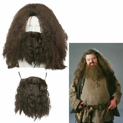 Hagrid Cosplay Wig Harry Costume Props Beard Hair Halloween Party Cool Xcoser](Beard Halloween Costumes)