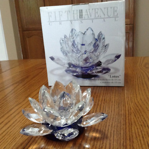 Fifth Avenue Crystal - Lotus Candle Holder