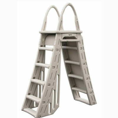 Confer Guard A-Frame Above Ground Swimming Pool Ladder for Pools 48-56
