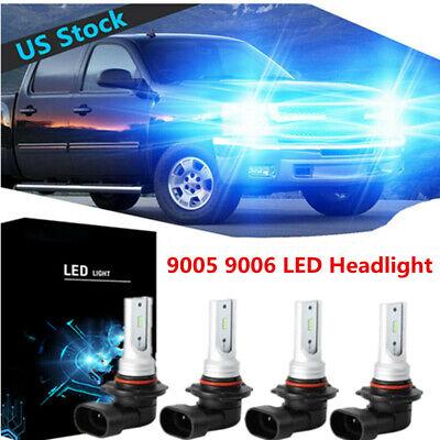 9005+9006 LED Headlight Bulbs For Chevy Pickup Truck 1500 2500 3500