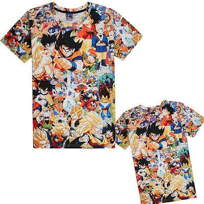 DBZ Mens T-Shirt Costume Goku Tee Super Saiyan Top Halloween (Dbz Halloween)