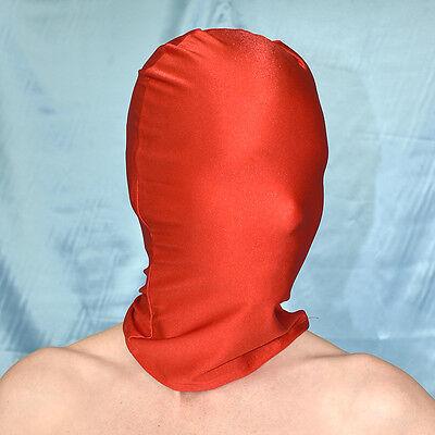 verschiedene Farben MASKE glänzend* Spandex Kopf Haube* Nylon Mask second skin
