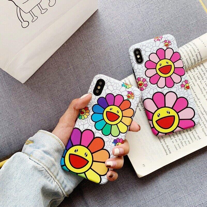 Takashi Murakami iPhone Flower Silicon Case for Xs KAIKAI KIKI Floral NEW