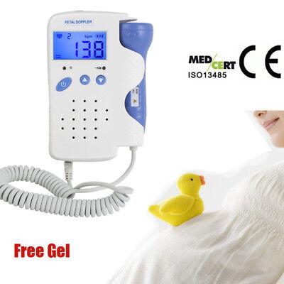 Model Fetal Doppler Lcd Fetal Heart Monitorwater Proof Probe Us With Gel Fda