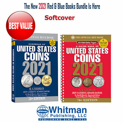 2021 Red Book Price Guide, Spiral and 2021 Blue Book, Handbook of U.S. Coins