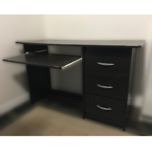 Fashionable Dark Brown Computer Desk HEAVILY DISCOUNTED