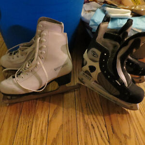 Used Girls' & Boys' Ice Skates -Great Condition!