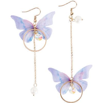 Summer Asymmetric Butterfly Alloy Earrings Long Paragraph Wing Earrings Jewelry