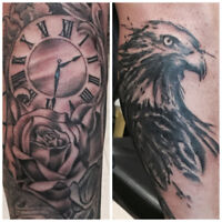 FALL SPECIAL $250 for 3 HOUR TATTOO SHOP SESSION!!!!