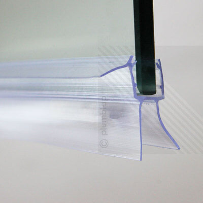 Bath Shower Screen Door Seal Strip | Glass Thickness 4mm - 6mm | Seals Gap 22mm
