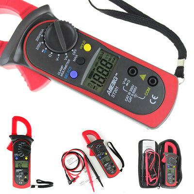 Digital Lcd Disaplay Clamp Acdc Multimeter Amp Volt Meter Resistance Tester