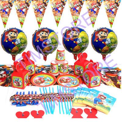 Super Mario Birthday Party Kids Tableware Decoration Tablecloth Napkins Plates (Decorative Napkins)