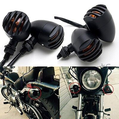 12V Universal Cafe Racer Bobber Chopper Motorcycle Turn Signals Indicator Lights
