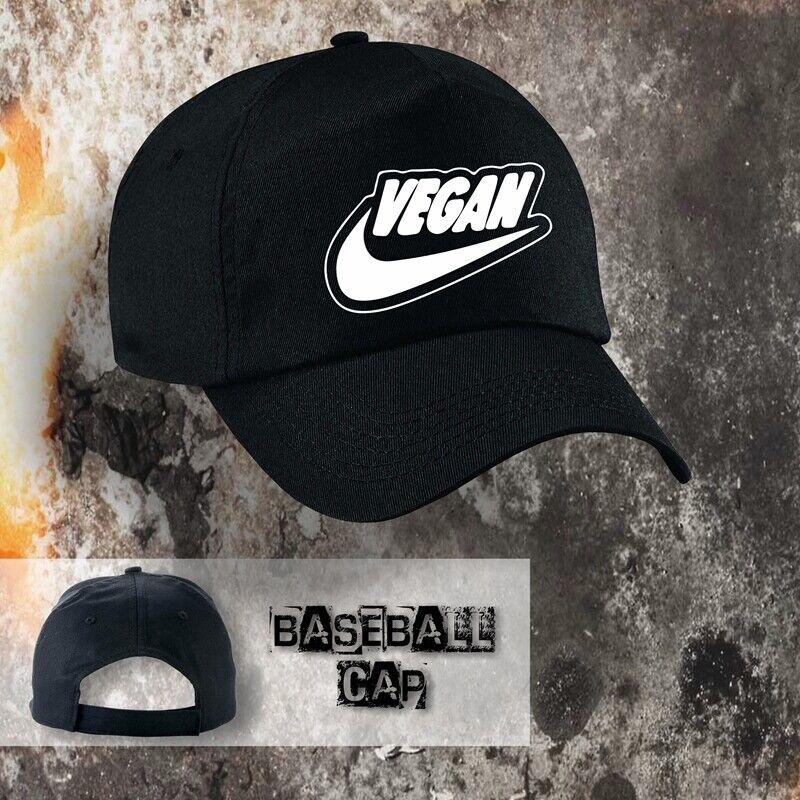 Base Cap Motiv Vegan, schwarz, aus Baumwolle