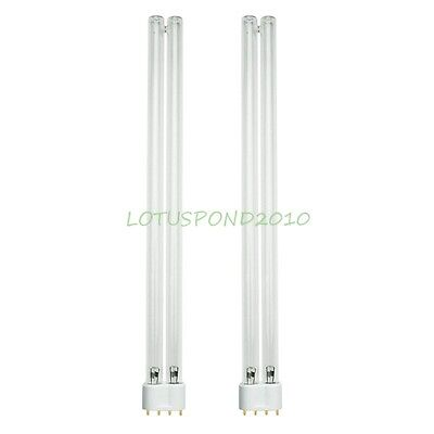 Two 36W 36 Watt UV Bulb Lamp 2G11 Base-4 Pin For JEBAO SUNSUN Pond Clarifier ()