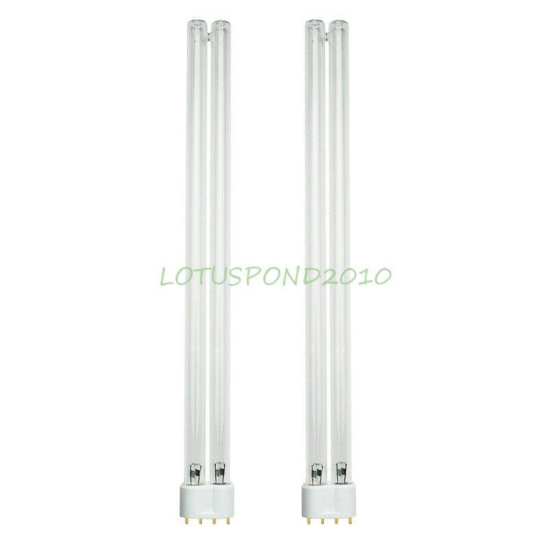 Two 36W 36 Watt UV Bulb Lamp 2G11 Base-4 Pin For JEBAO SUNSUN Pond Clarifier