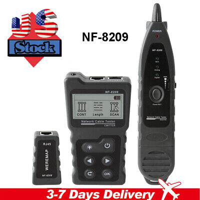 Nf-8209 Lcd Display Measure Length Network Poe Wire Checker Cable Tool Cat5 Cat6