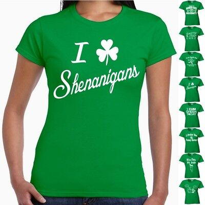 St Patricks Day Tee T Shirt Ladies Funny Irish Drinking Pub Crawl T Shirt