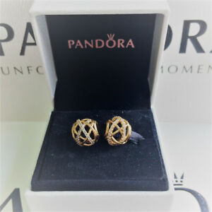 2 Authentic Pandora Gold 14K Galaxy Charms