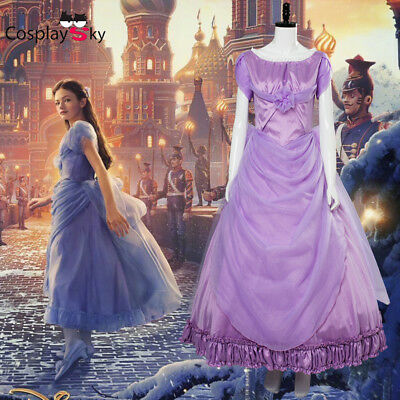 Nutcracker Halloween Costume (Halloween The Nutcracker And The Four Realms Clara Cosplay Costume Purple)