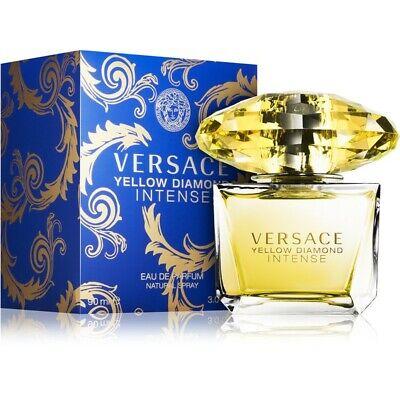 Versace Yellow Diamond Intense Eau de Toilette  EDT Fragrance Spray~SEALED~3 Oz