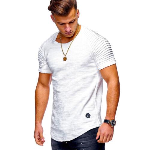Herren Sommer T-Shirt Kurzarm Shirts Freizeitshirt Slim Fit Oberteil Bluse Tops