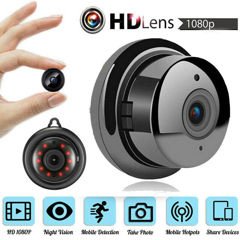 1080P Wireless WiFi WLAN IP Kamera Überwachungkamera Hidden Spion Kamera Spycam
