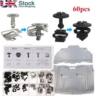 60pcs Under Engine Cover Undertray Repair Kit Wheel Arch Clips for AUDI A4 A6A8