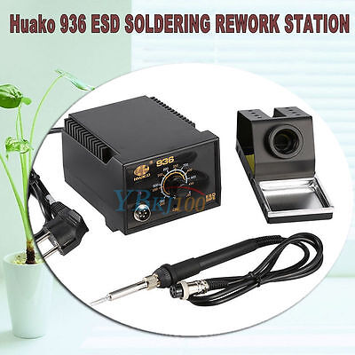 936 Adjustable Temperature Electric Soldering Station Kit W Iron Stand 110v 75w