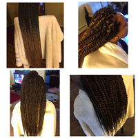 Braiding and weave sew-ins