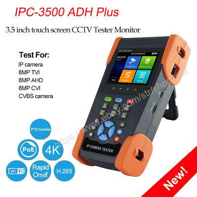 Ip Camera Tester 4k Wifi H.265 3.5 Inch Analog Ipc-3500 Adh Plus Poe Tvi Cvi Ahd