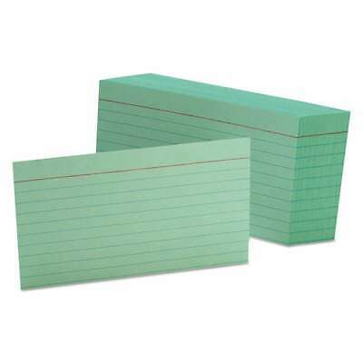 Oxford Ruled Index Cards 3 X 5 Green 100pack 078787731035