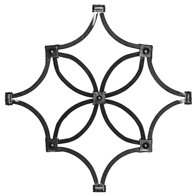 Zierrosette Rosette 330x1270 mm Zierelemente Motiv Deko 073 Zierornamente