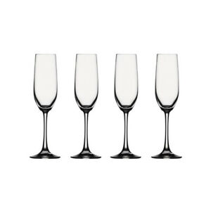 12 Spiegelau Champagne Glasses, 2 styles, 6 of each, unused