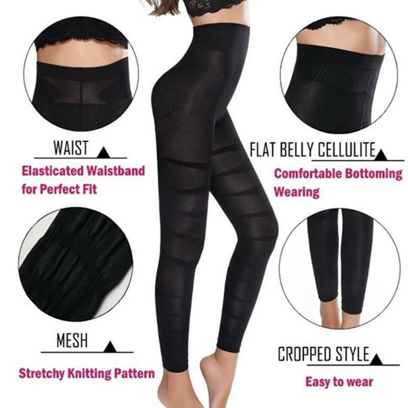High Waist Anti-Cellulite Compression Slim LeTggings for Tummy Control*T