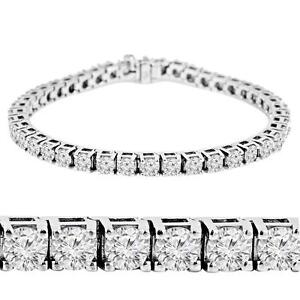 14K GOLD DIAMOND BRACELET OF 5.00 CTW / BRACELET EN OR BLANC 14K À 51 DIAMANTS DE 5.00 CARAT TOTAL