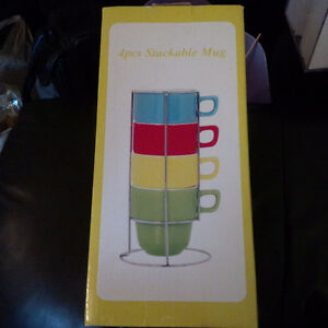 Gallery Stackable Mug Set - Brand New!
