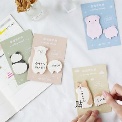 Cute Kawaii Fat Little Animal Weekly Plan Sticky Notes Post Memo Pad Stationery