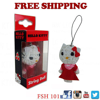 New Sanrio Hello Kitty String Doll VooDoo Doll Key Chain Cell Phone Strap](Hello Kitty Voodoo Doll)